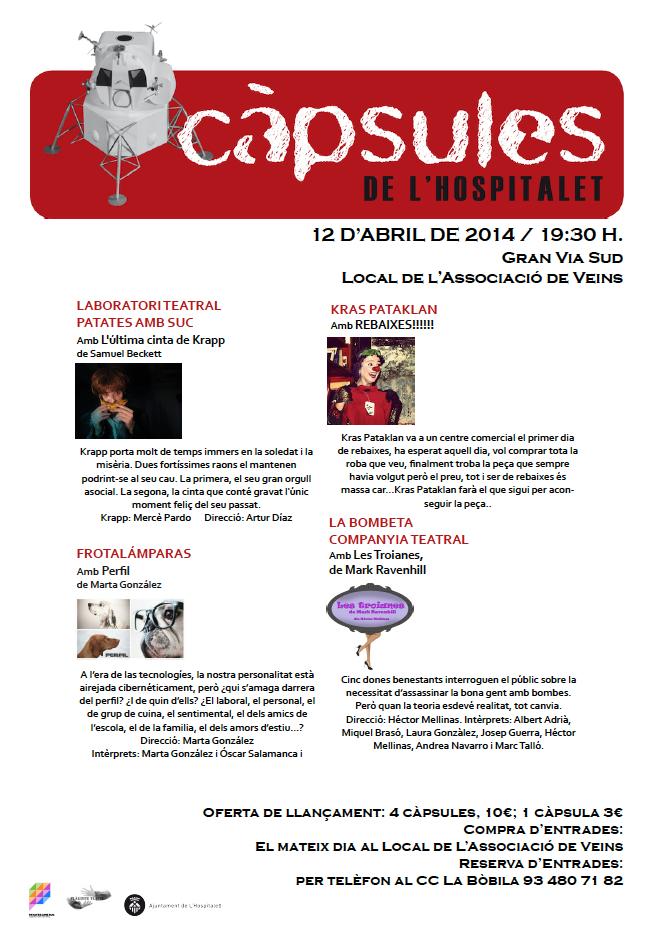Programa de les Càpsules L'H - Gran Via Sud 12 d'abril de 2014