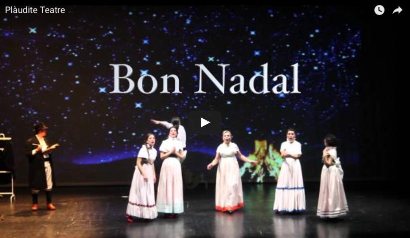Plaudite Teatre-Espai d'Arts Escèniques us destina Bon Nadal